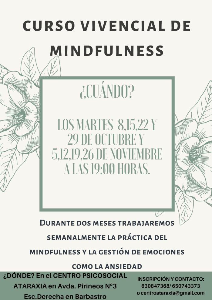 CURSO VIVENCIAL DE MINDFULNESS